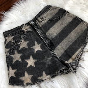 Levi's Orange Tab High-Rise American Flag Shorts